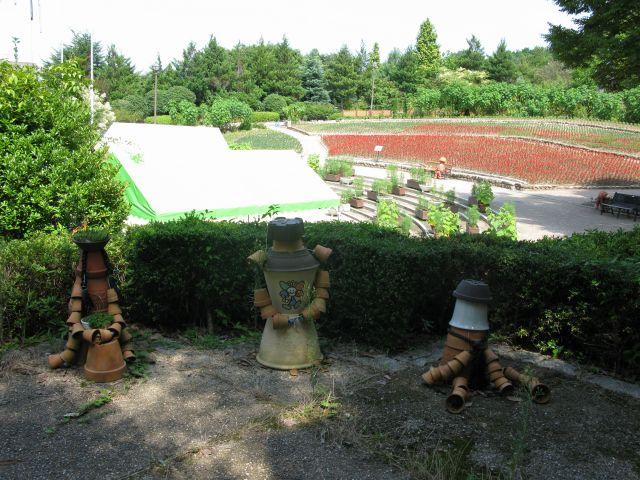 大花壇の風景2008年9月10日