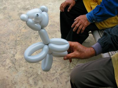 ペンシル風船くまの作り方